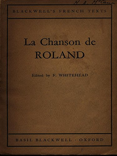 Song of Roland By Volume editor Frederick Whitehead