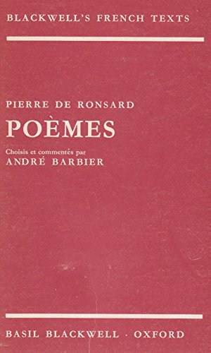 Poemes By Pierre De Ronsard