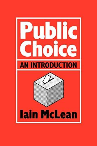 Public Choice By Iain McLean