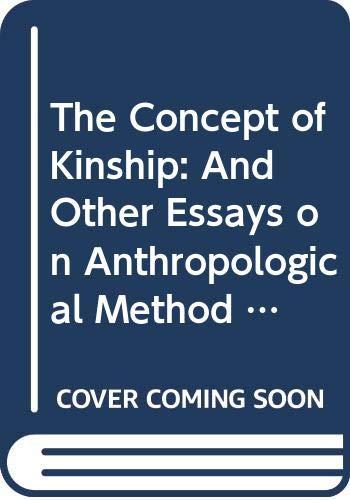 The Concept of Kinship By Ernest Gellner
