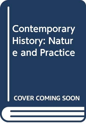 Contemporary History By Edited by Anthony Seldon