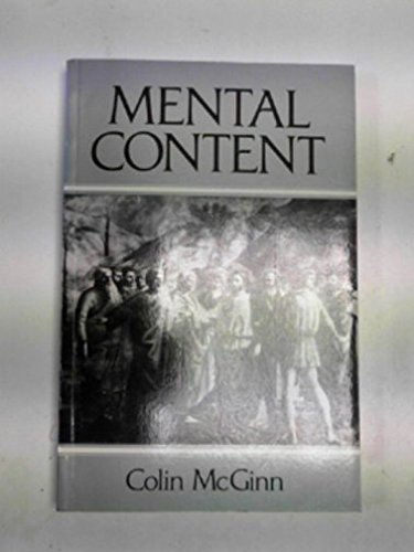 Mental Content By Colin McGinn