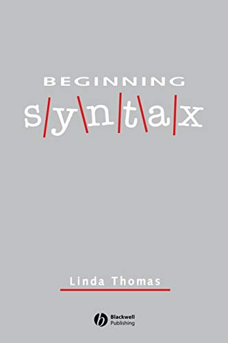 Beginning Syntax by Linda Thomas