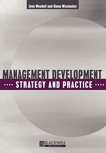 Management Development By Jean Woodall
