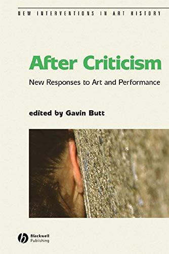 After Criticism By Gavin Butt