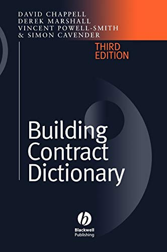 Building Contract Dictionary By Vincent Powell-Smith