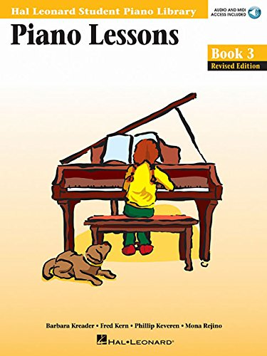 Piano Lessons, Book 3 (Hal Leonard Student Piano Library (Songbooks)) By Barbara Kreader