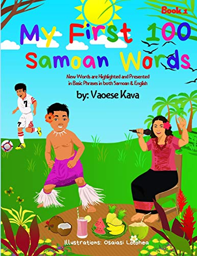 My First 100 Samoan Words Book 1 By Vaoese Kava