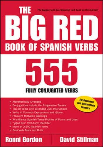 The Big Red Book of Spanish Verbs: 555 Fully Conjugated Verbs By Ronni L. Gordon
