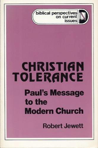 Christian Tolerance By Robert Jewett