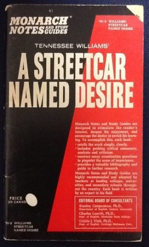 "Tennessee Williams' ""A Streetcar Named Desire"" By Gilbert L. Rathbun"
