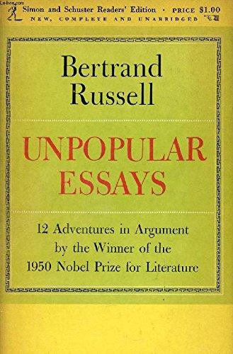 Unpopular Essays By Bertrand Russell, Earl
