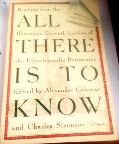 All There is to Know By Alexander Coleman