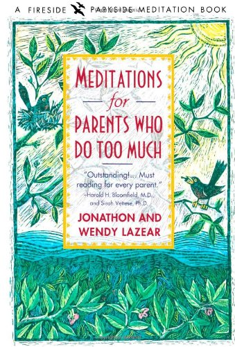 Meditations for Parents Who Do Too Much By J. Lazear