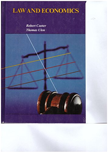 Law and Economics by Ulen, Thomas Hardback Book The Cheap Fast Free Post