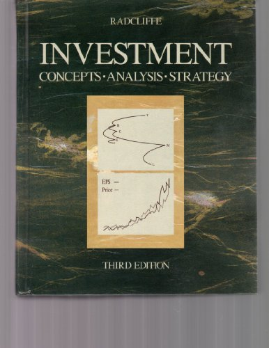 Investment By Robert C. Radcliffe