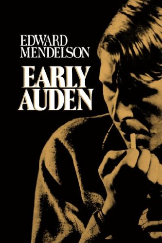Early Auden (Paper Only) By E Mendelson