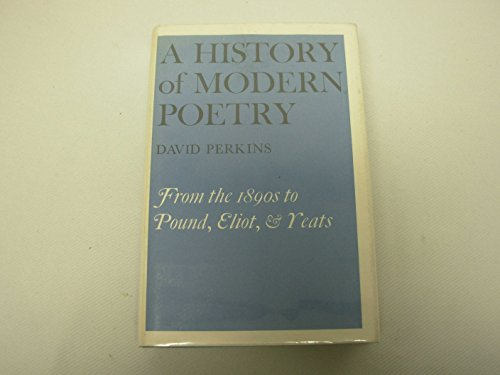 History of Modern Poetry By David Perkins