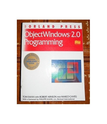 Object Windows 2.0 Programming By Tom Swan