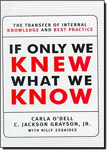 If Only We Knew What We Know Now By Carla O'Dell