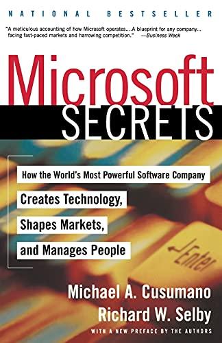 Microsoft Secrets By Michael A. Cusamano