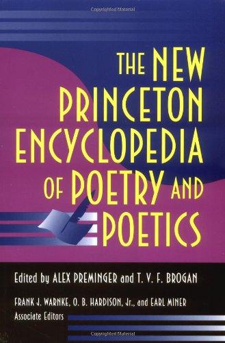 The New Princeton Encyclopedia of Poetry and Poetics par Alex Preminger