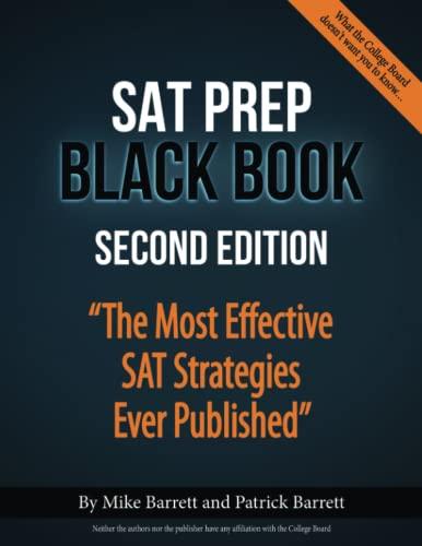 SAT Prep Black Book von Patrick Barrett (University of Wisconsin)