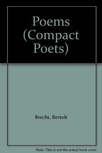 Poems By Bertolt Brecht