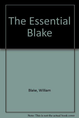 The Essential Blake By William Blake