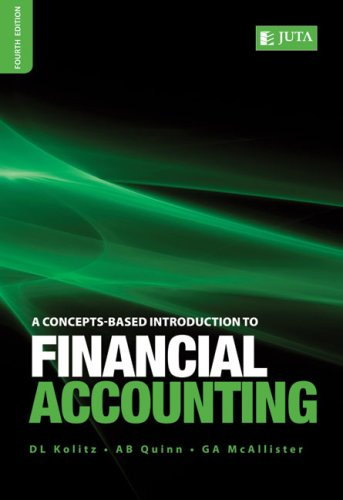A Concepts-based Introduction to Financial Accounting By David L. Kolitz