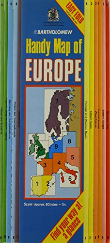 Handy Map of Europe By John Bartholomew