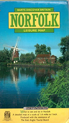 Discover Norfolk: Map By John Bartholomew and Son