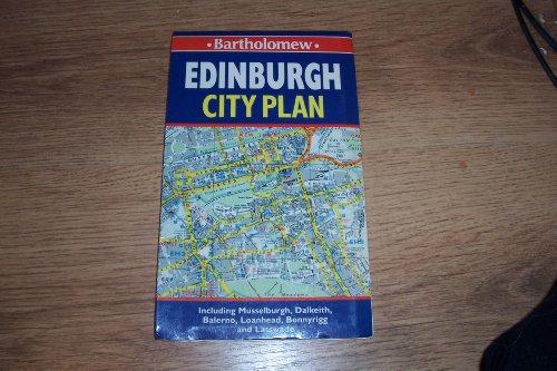 Edinburgh City Plan Colour Street Map by Barhtolomew Sheet map Book The Cheap