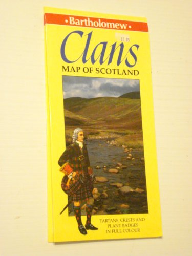 Clans Map of Scotland By George Nicol