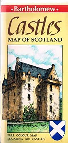 The Castles Map of Scotland By D.R. MacGregor