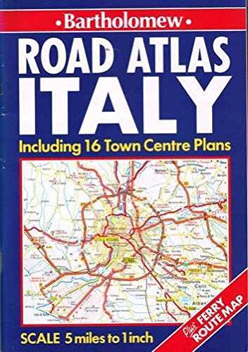 Road Atlas Italy By Bartholomew