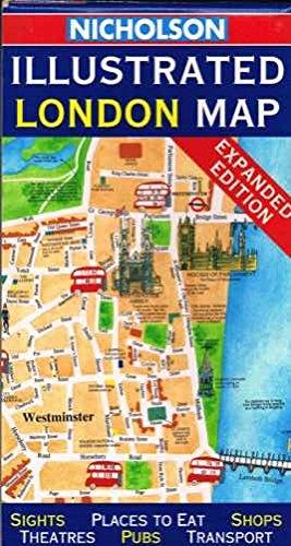 Illustrated London Map By John Bartholomew