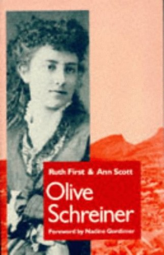 Olive Schreiner By Ruth First