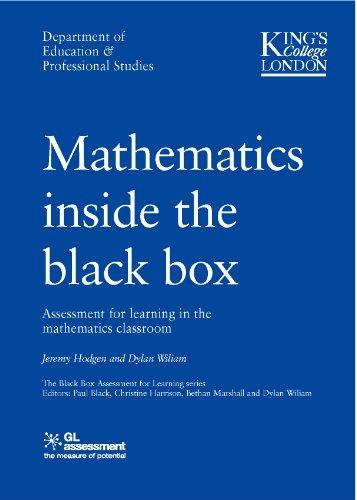 Mathematics Inside the Black Box By Bethan Marshall