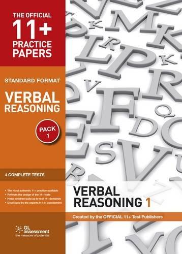 11+ Practice Papers, Verbal Reasoning Pack 1, Standard Format By Educational Experts
