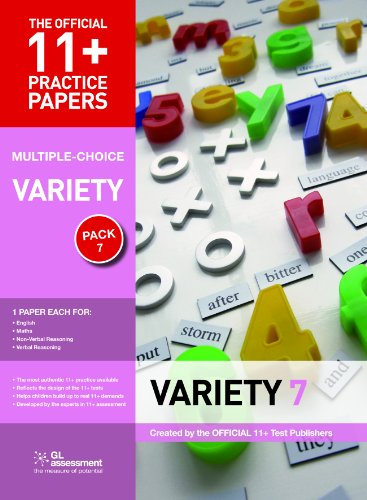 11+ Practice Papers, Variety Pack 7 (Multiple Choice) By GL Assessment