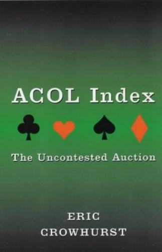 Acol Index By Eric Crowhurst