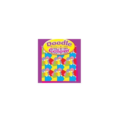 Doodle Colour Drawing Book - Purple
