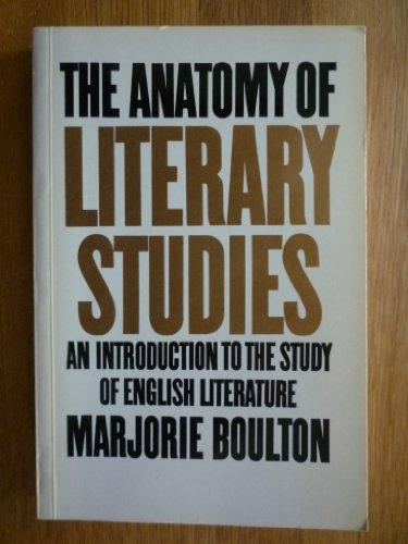 Anatomy of Literary Studies By Marjorie Boulton