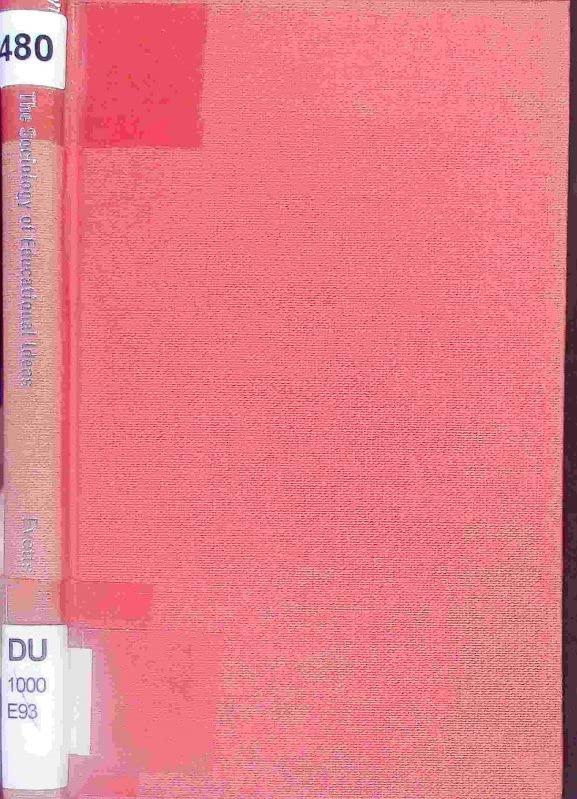 Sociology of Educational Ideas By Julia Evetts