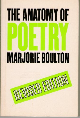 Anatomy of Poetry By Marjorie Boulton
