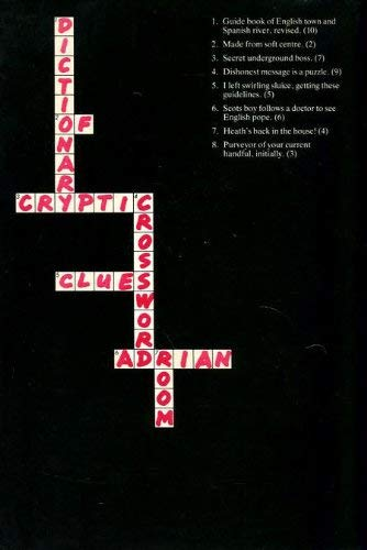 Dictionary of Cryptic Crossword Clues By Adrian Room