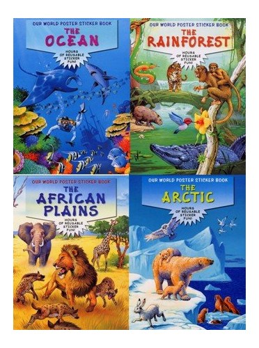 Our World Poster Sticker Book By Haddock Publishing Peter
