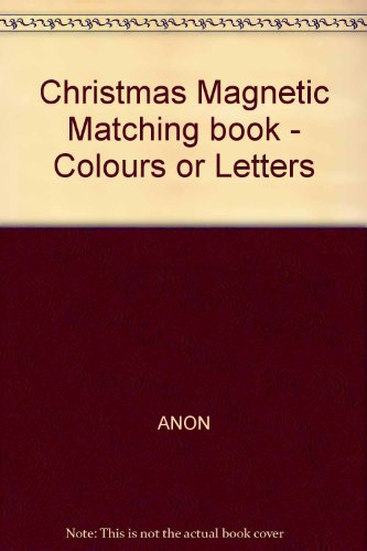 Christmas Magnetic Matching book - Colours or Letters