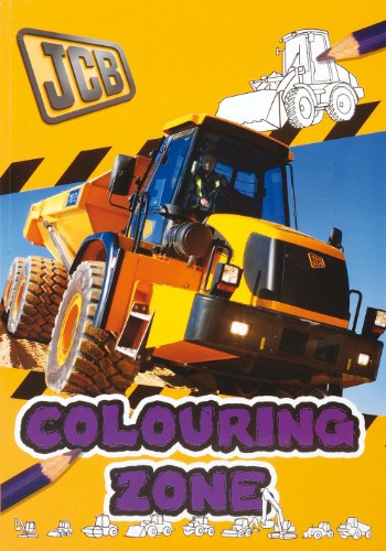 JCB Real Machines Colouring Book (Green)